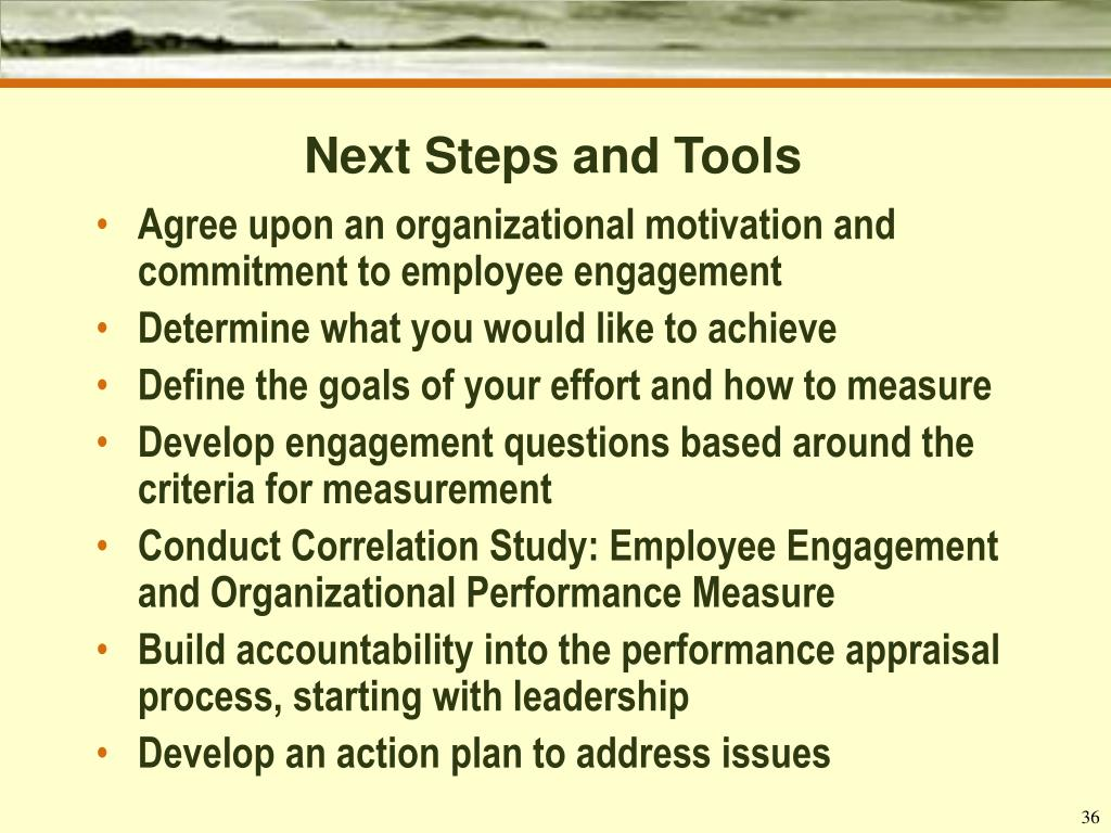 Next Steps and Tools