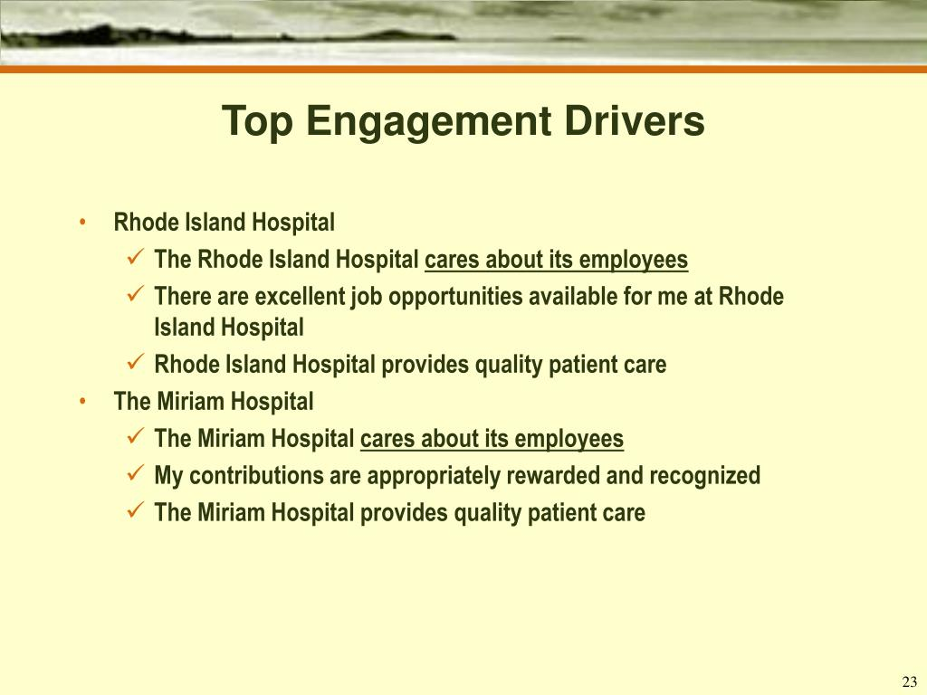 Top Engagement Drivers