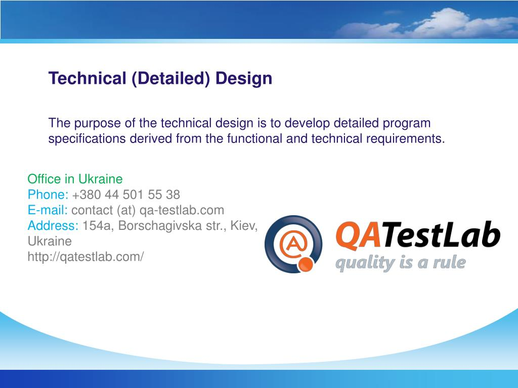Technical (Detailed) Design