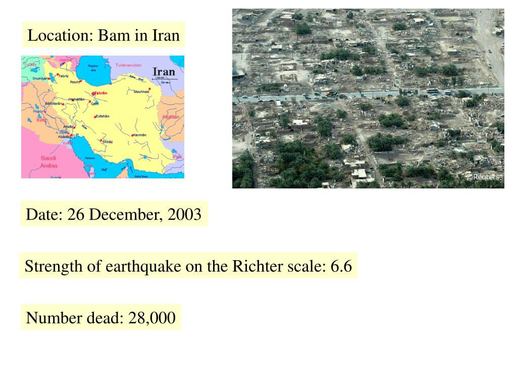 Location: Bam in Iran