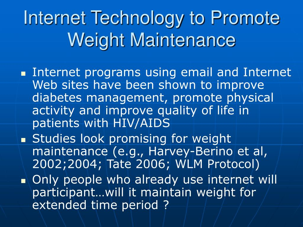 Internet Technology to Promote Weight Maintenance