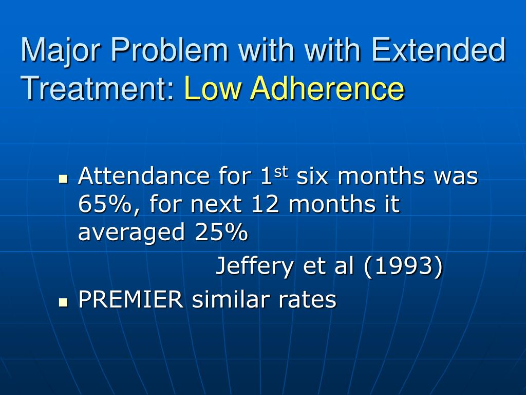 Major Problem with with Extended Treatment: