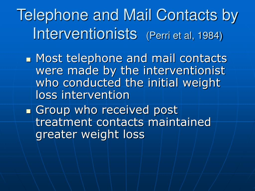 Telephone and Mail Contacts by Interventionists