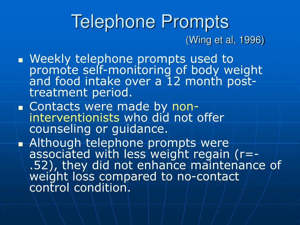Telephone Prompts