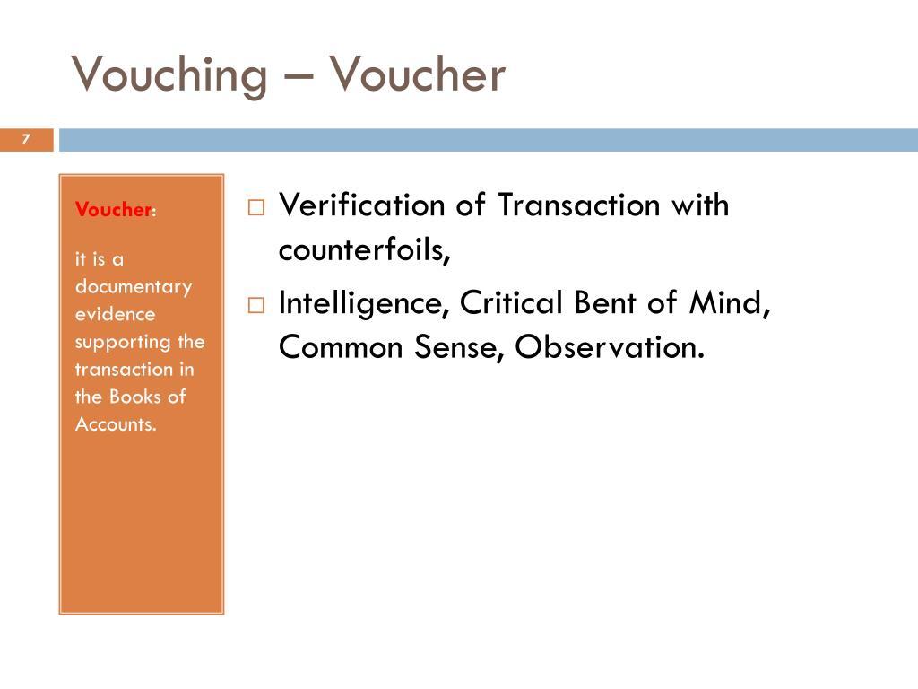 Vouching – Voucher