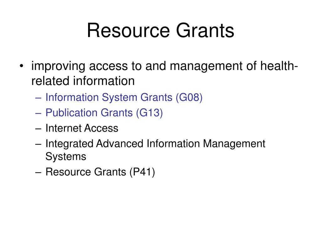 Resource Grants