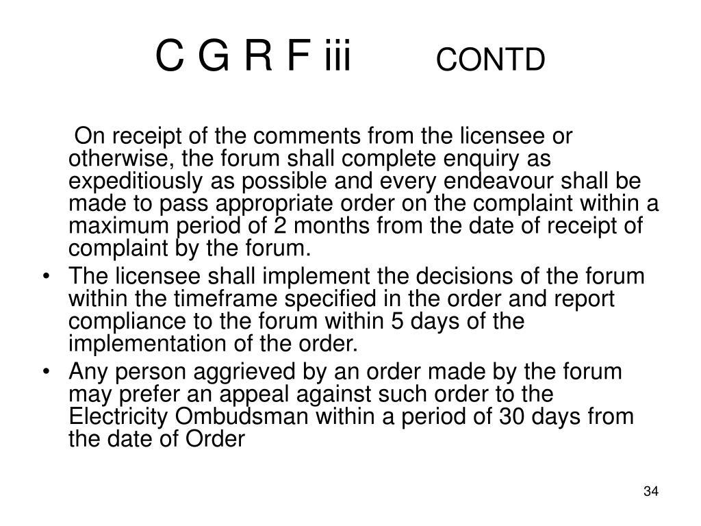 C G R F iii