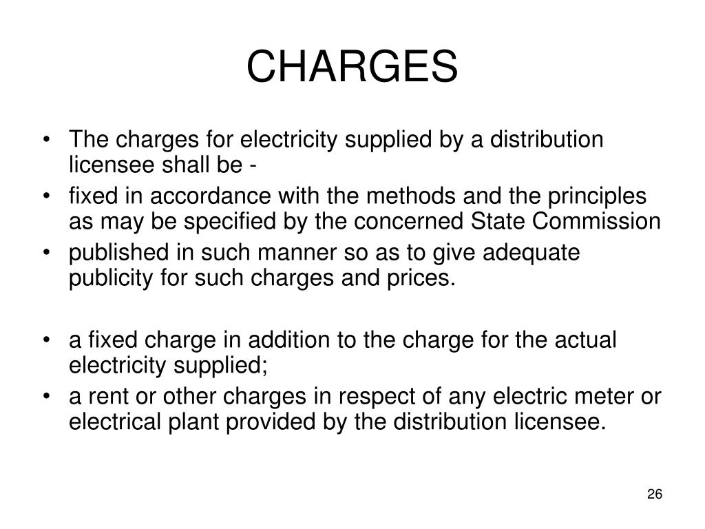 CHARGES