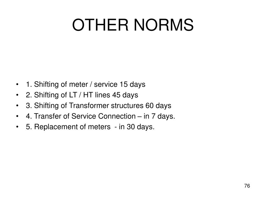 OTHER NORMS