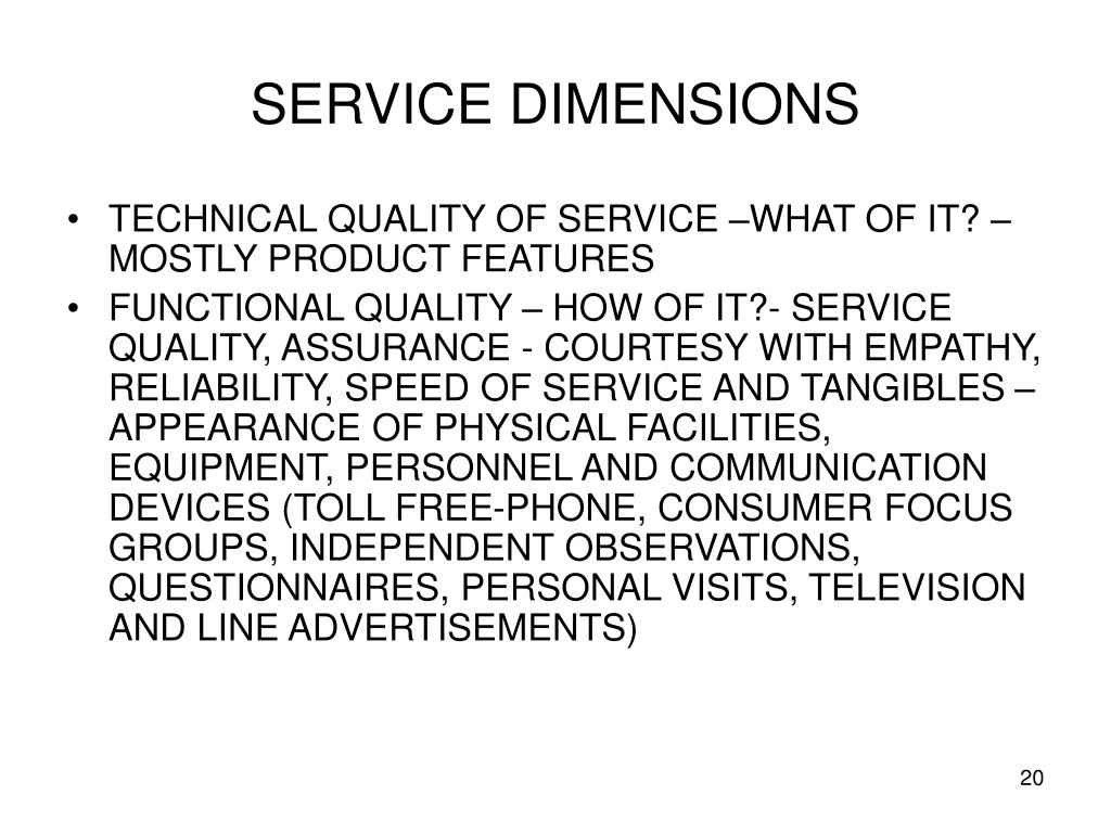 SERVICE DIMENSIONS