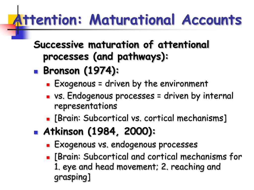 Attention: Maturational Accounts
