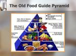 the old food guide pyramid