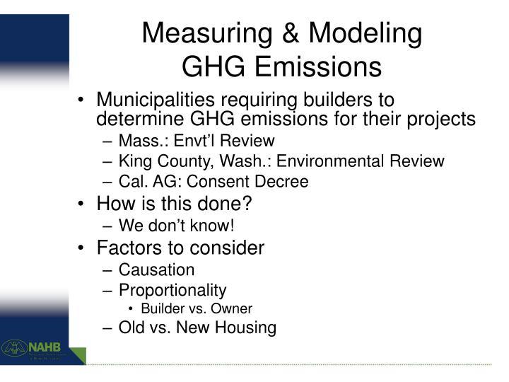 Measuring & Modeling