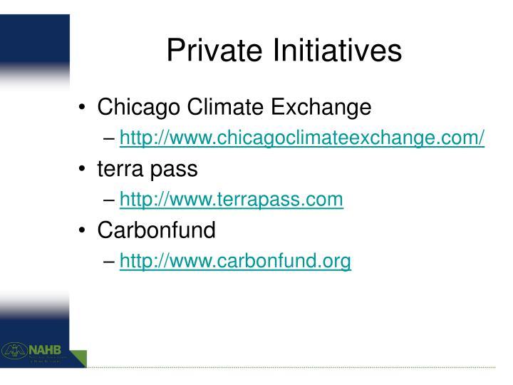 Private Initiatives