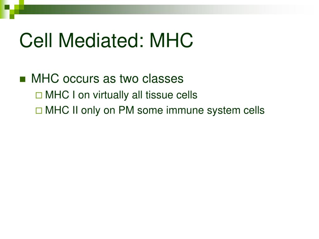 Cell Mediated: MHC