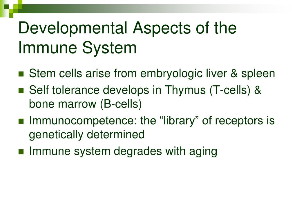 Developmental Aspects of the Immune System