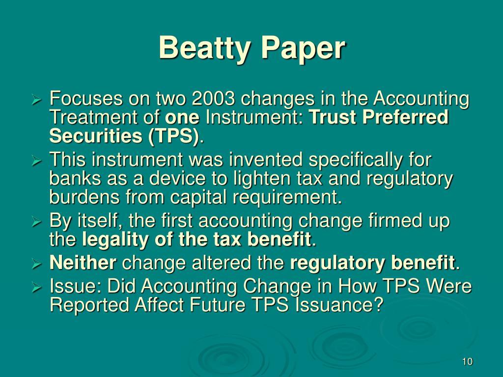 Beatty Paper