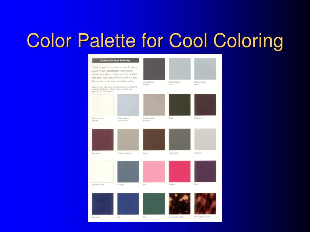 Color Palette for Cool Coloring