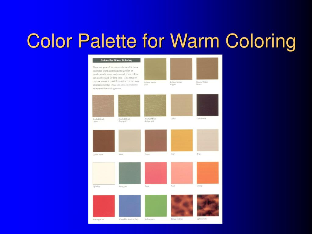 Color Palette for Warm Coloring