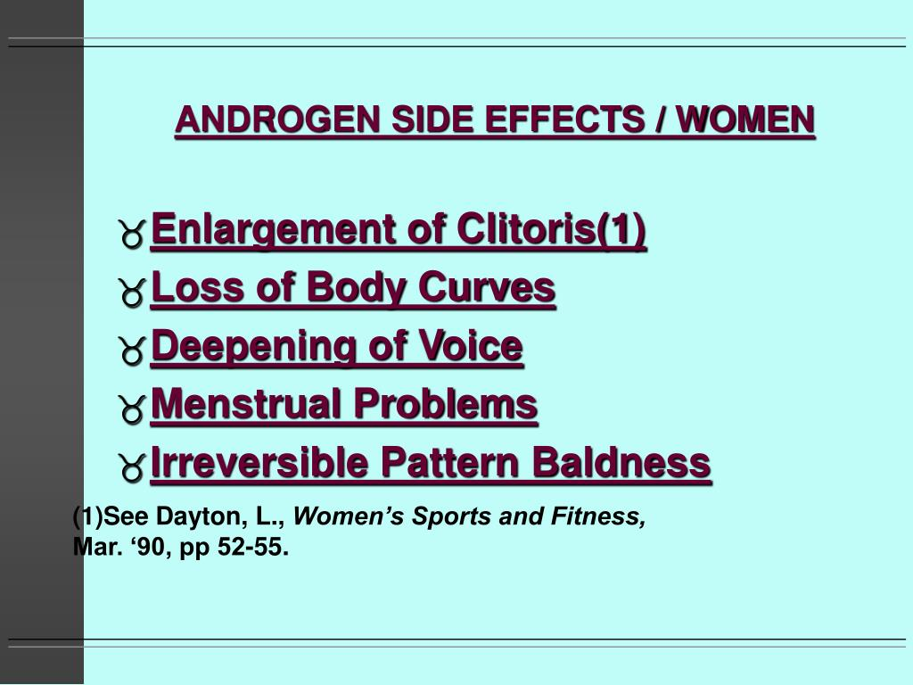 ANDROGEN SIDE EFFECTS / WOMEN