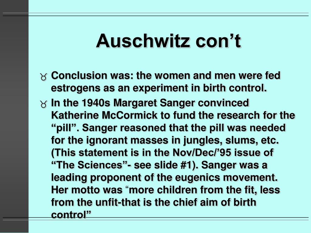 Auschwitz con't