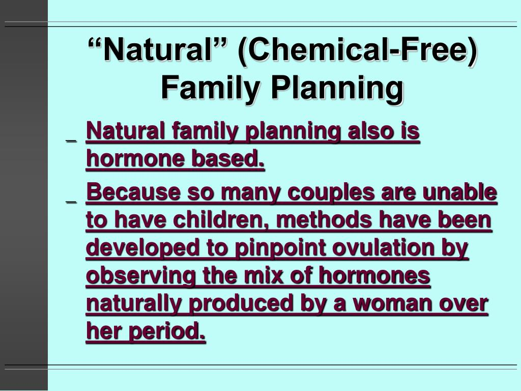 """Natural"" (Chemical-Free) Family Planning"
