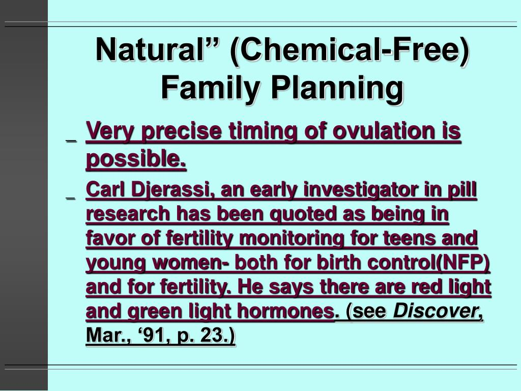 "Natural"" (Chemical-Free) Family Planning"