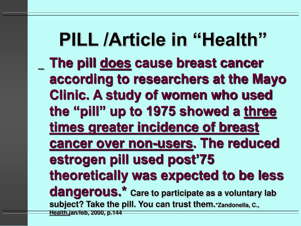 "PILL /Article in ""Health"""