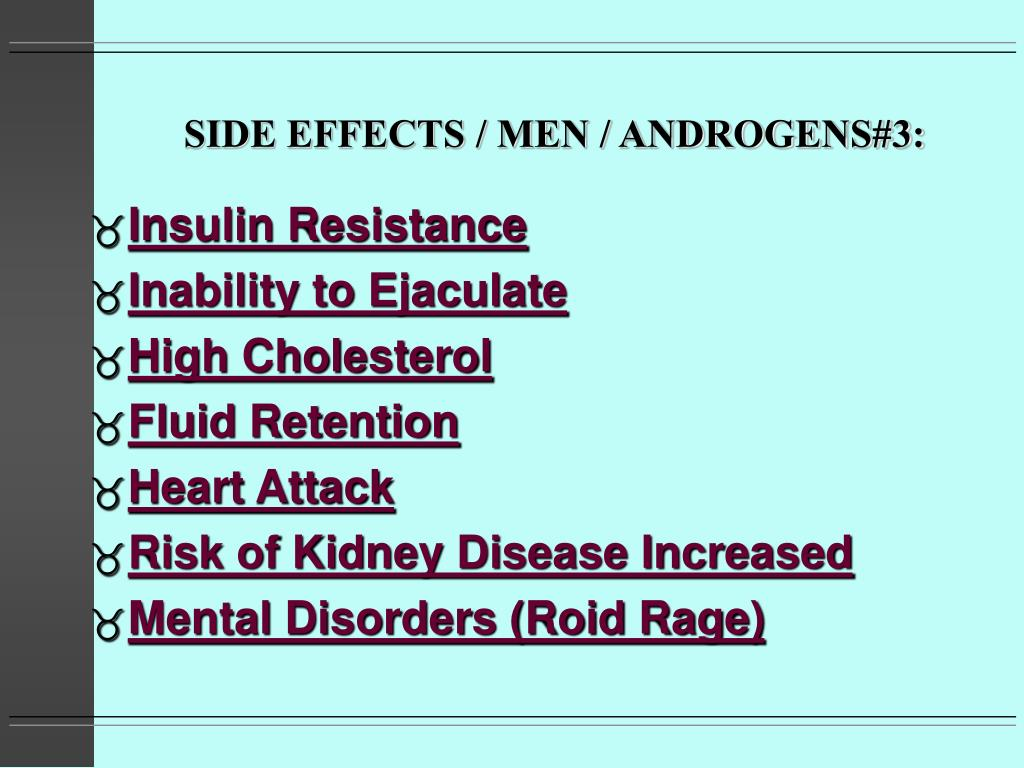 SIDE EFFECTS / MEN / ANDROGENS#3: