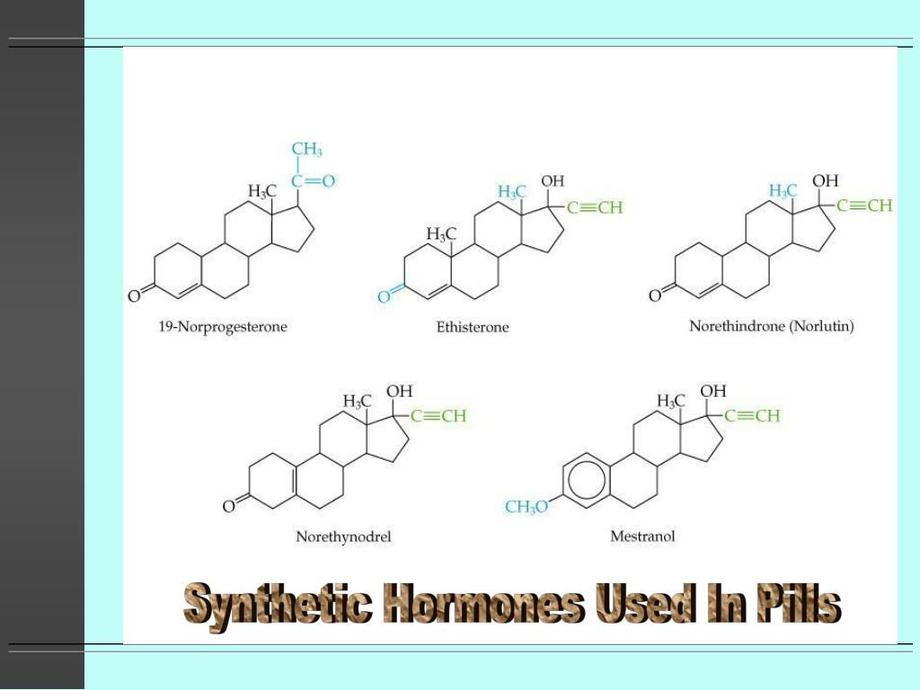 Synthetic Hormones Used In Pills