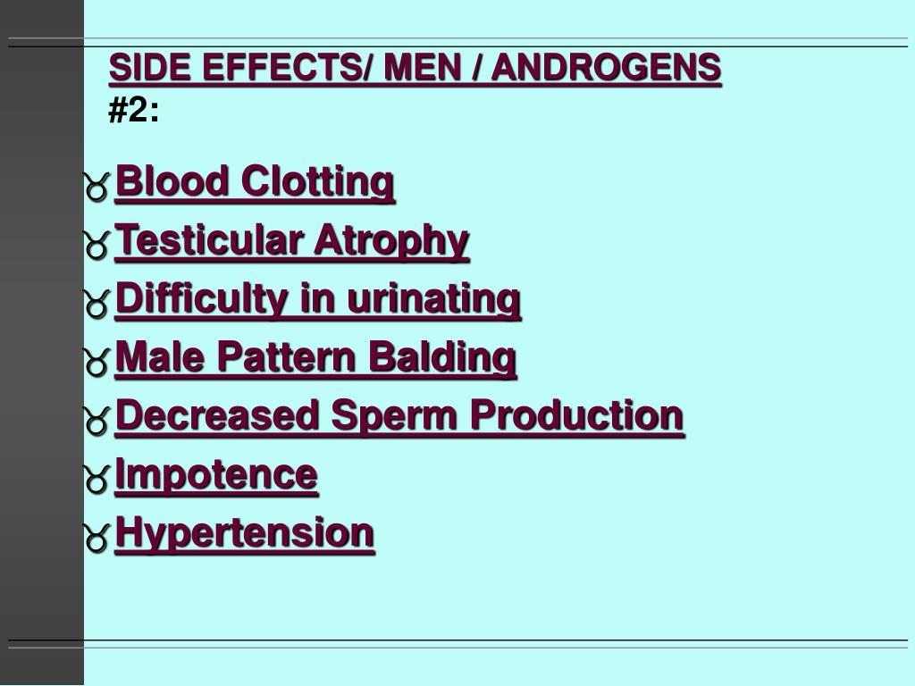 SIDE EFFECTS/ MEN / ANDROGENS