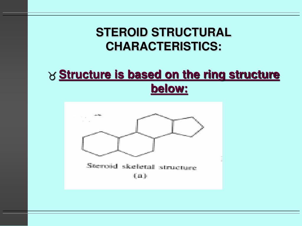 STEROID STRUCTURAL CHARACTERISTICS: