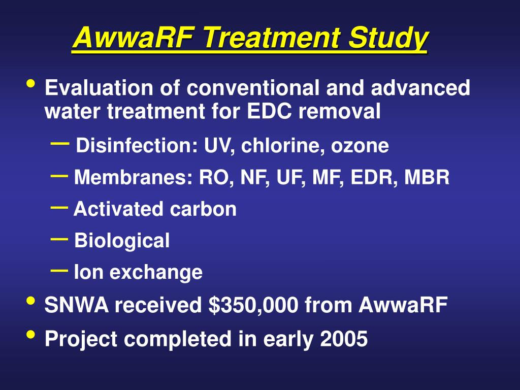 AwwaRF Treatment Study