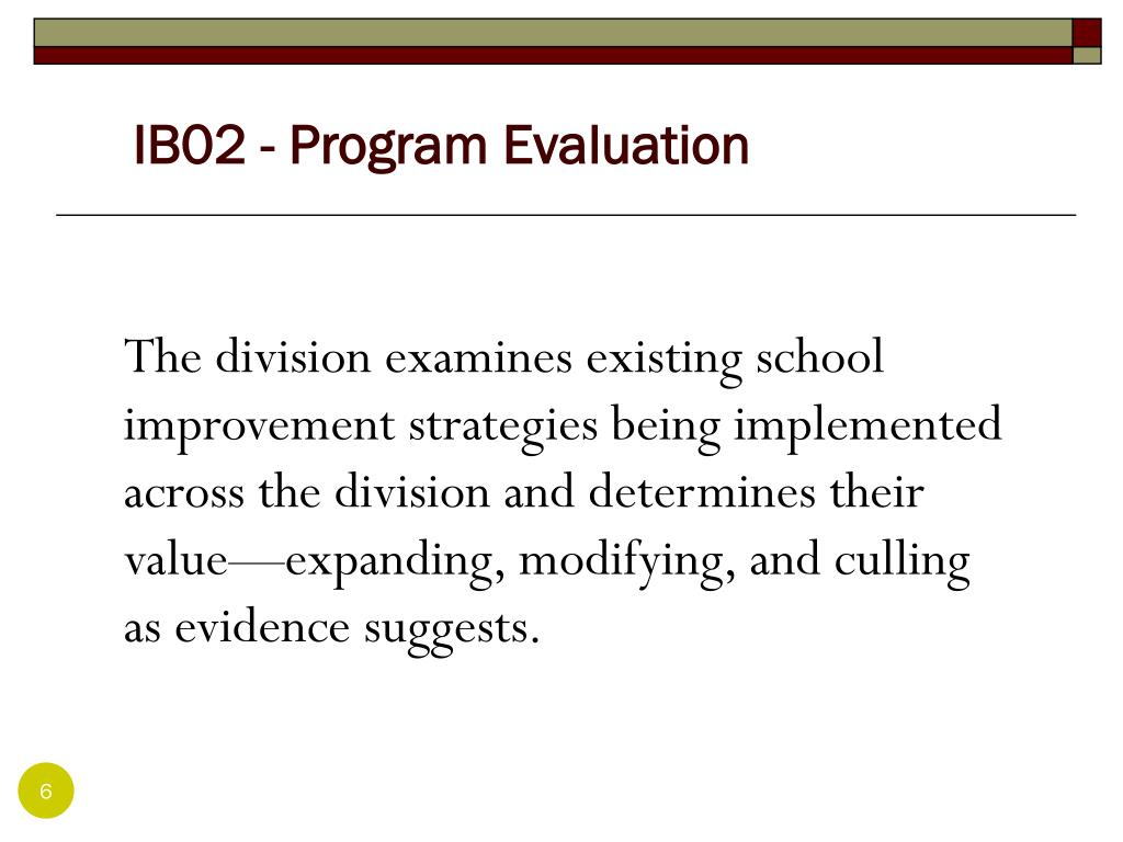 IB02 - Program Evaluation