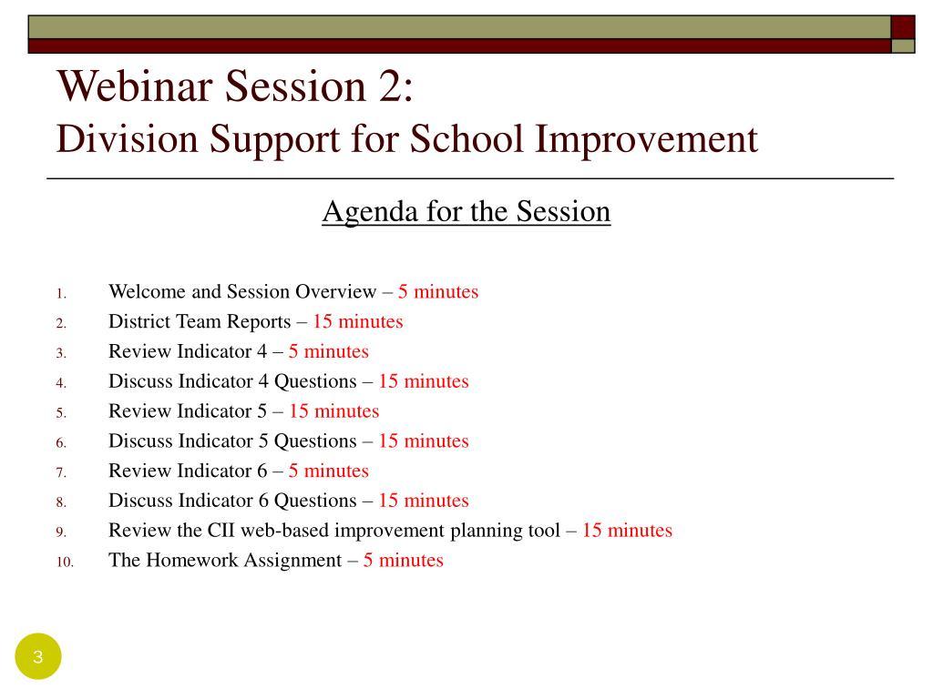 Webinar Session 2: