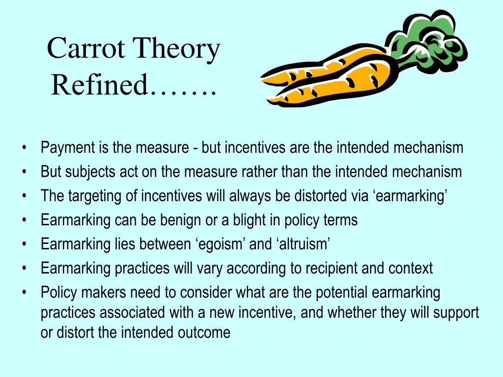 Carrot Theory Refined…….