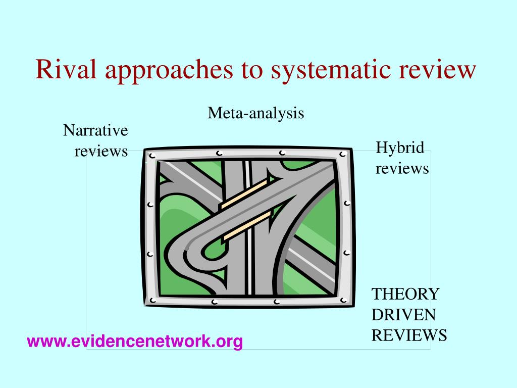 Rival approaches to systematic review