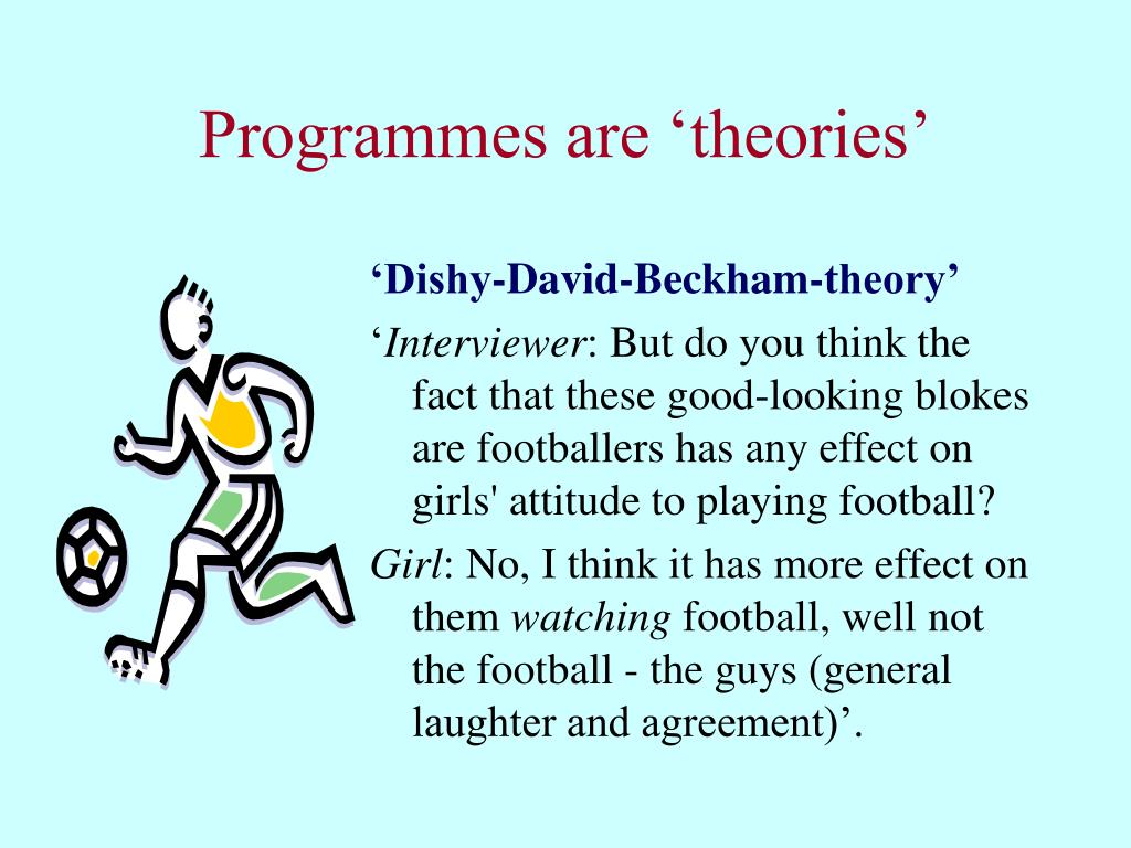 Programmes are 'theories'