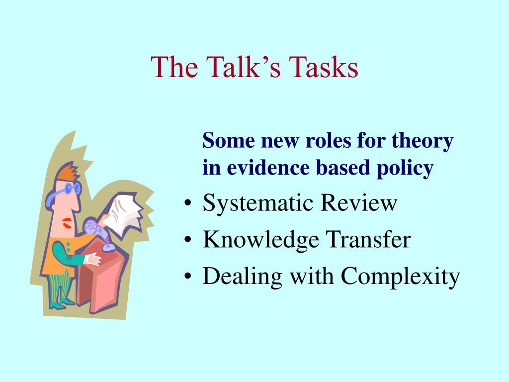 The Talk's Tasks
