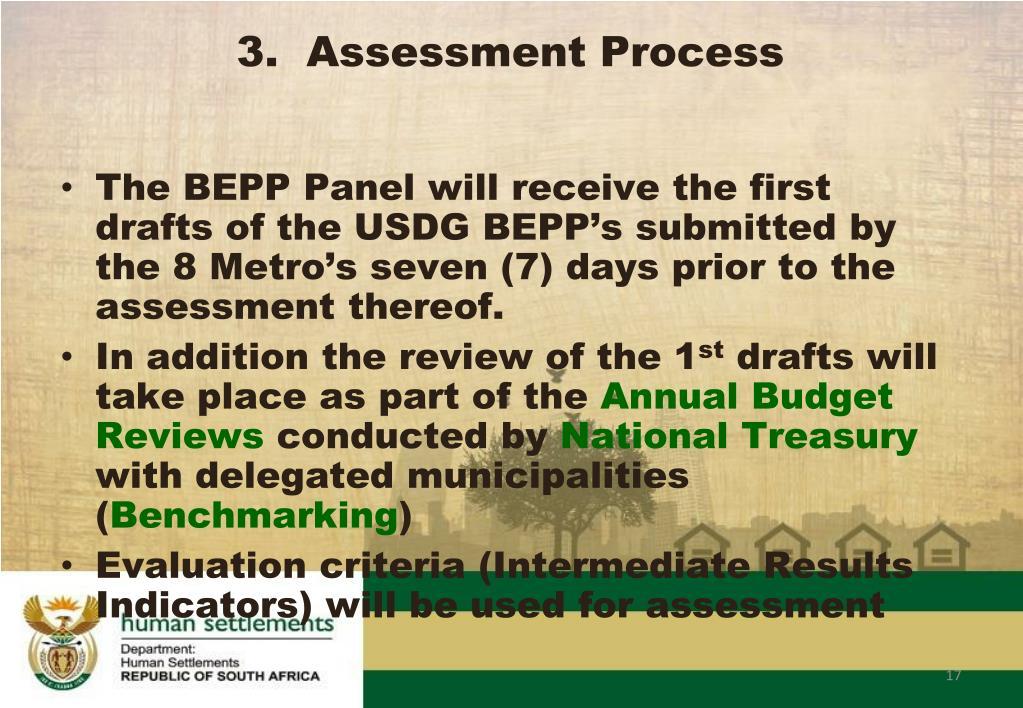3.  Assessment Process