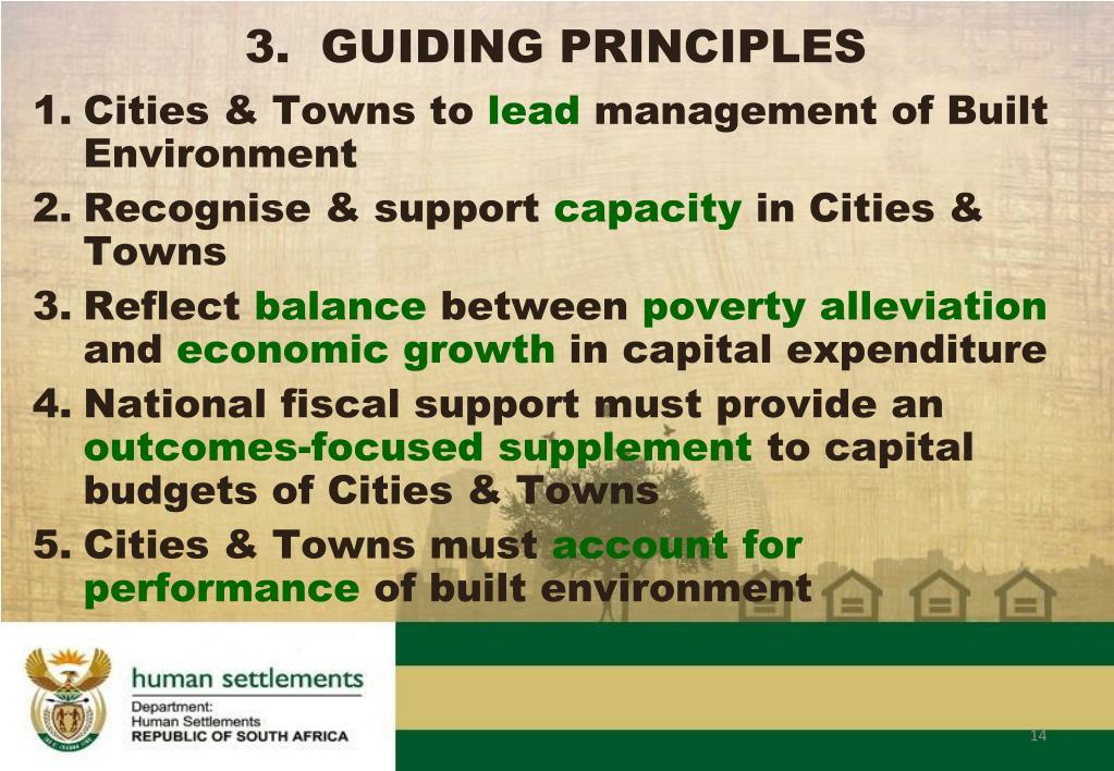 3.  GUIDING PRINCIPLES