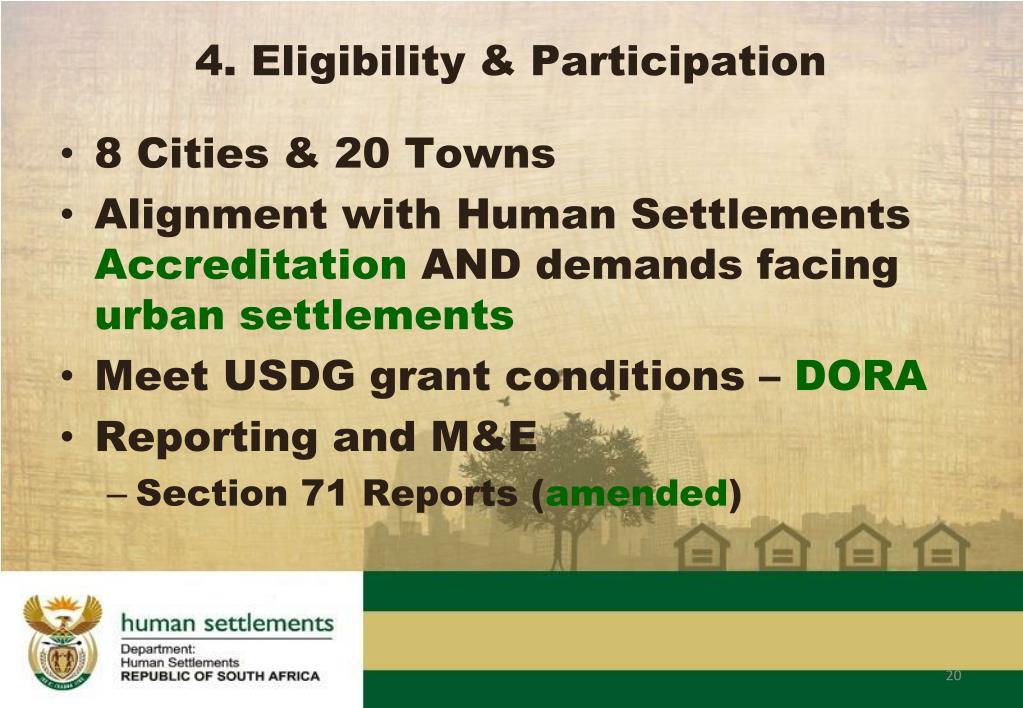 4. Eligibility & Participation