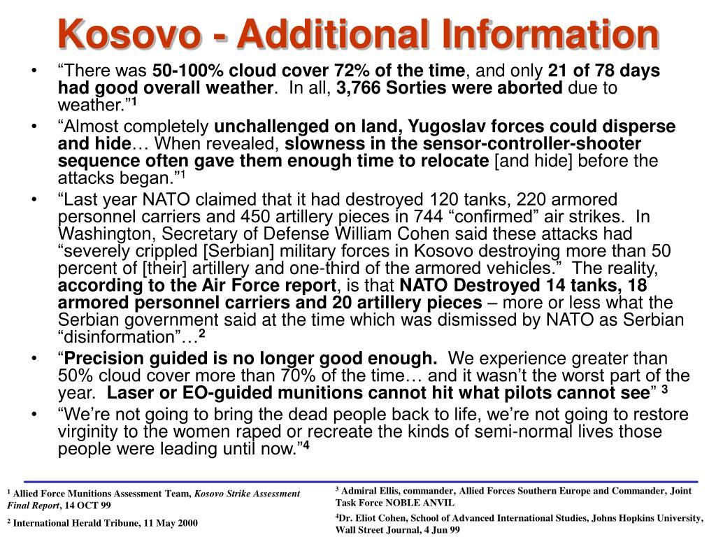Kosovo - Additional Information