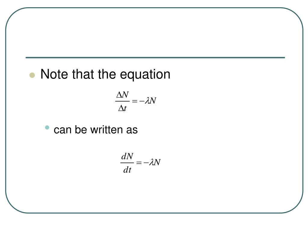 Note that the equation