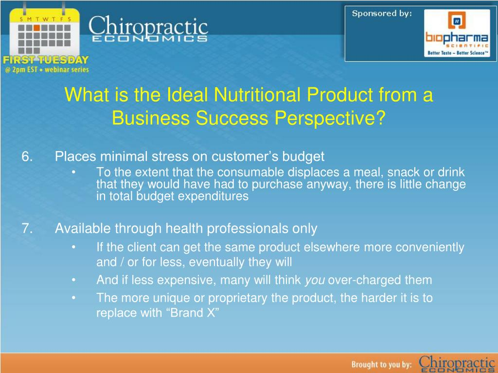 What is the Ideal Nutritional Product from a