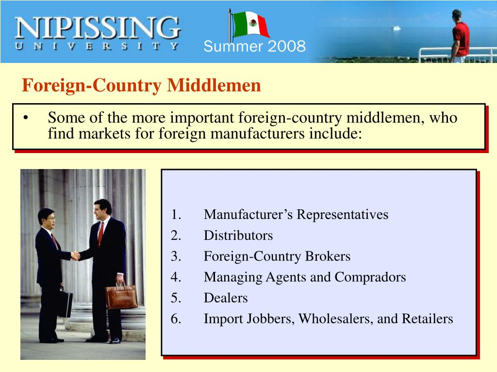 Foreign-Country Middlemen