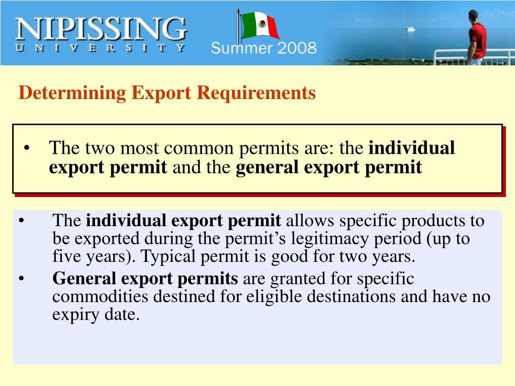 Determining Export Requirements