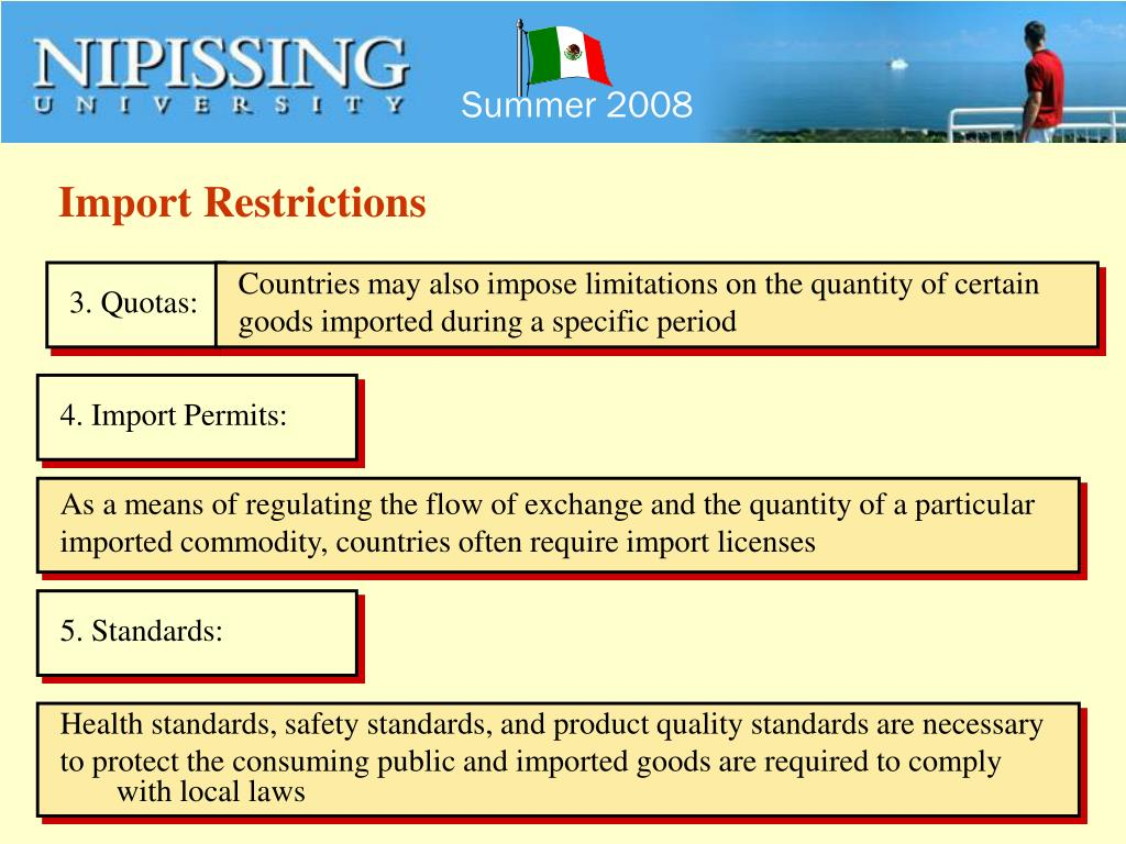 Import Restrictions