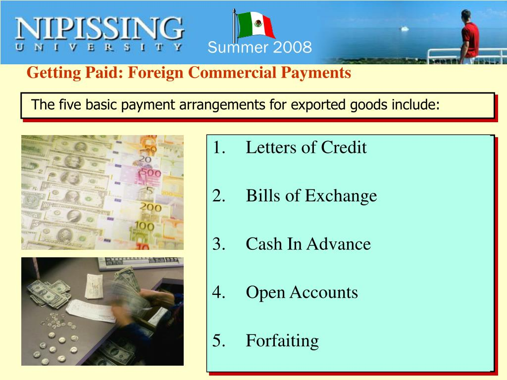 Getting Paid: Foreign Commercial Payments