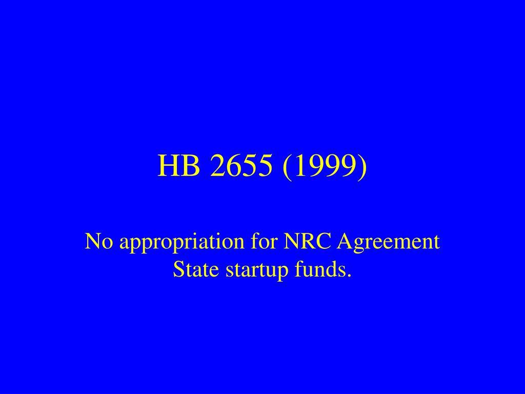 HB 2655 (1999)